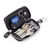 CHIZIYO skórzany uchwyt na kluczyk samochodowy portfele mężczyźni Key organizer do kluczy dla gospodarza damskie etui na breloki Zipper etui na klucze w Etui na kluczyki samochodowe od Samochody i motocykle na