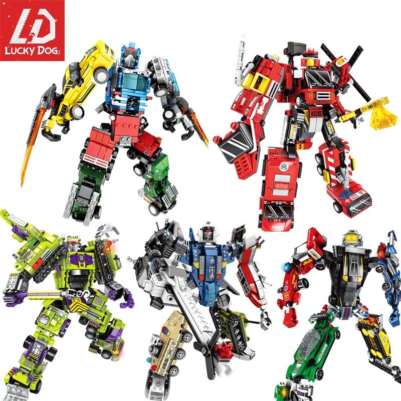Image 4 - Transformation Building Blocks Compatible Major Brands City Trucks Car Helicopter Brick Toy For ChildrenBlocks   -