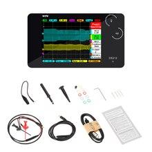 Osciloscopio Digital portátil DS212 DSO, 2 canales, tamaño de bolsillo, interfaz USB, pantalla TFT a todo Color, ancho de banda de almacenamiento de memoria de 8MB