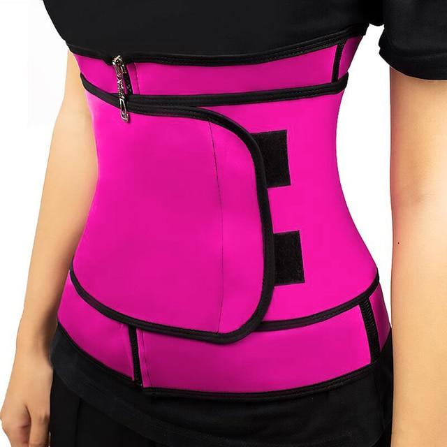 Women Slimming Waist Trainer Thermo Sweat Belt Tummy Control Body Shaper Belt Corset Shapewear Fat Burning Fitness Strap 1
