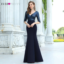 African-Dresses Party-Gowns Ever Pretty Sequin Mermaid Half-Sleeve Formal Elegant V-Neck
