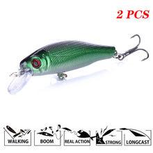 2 шт жесткая рыболовная приманка воблер армейский зеленый пластик