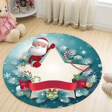 цена на Nordic Style Round Christmas Carpet Rugs Kids Room Decor Play Area Rug Bedside Doormat Floor Chair Mat Large Carpets Living Room