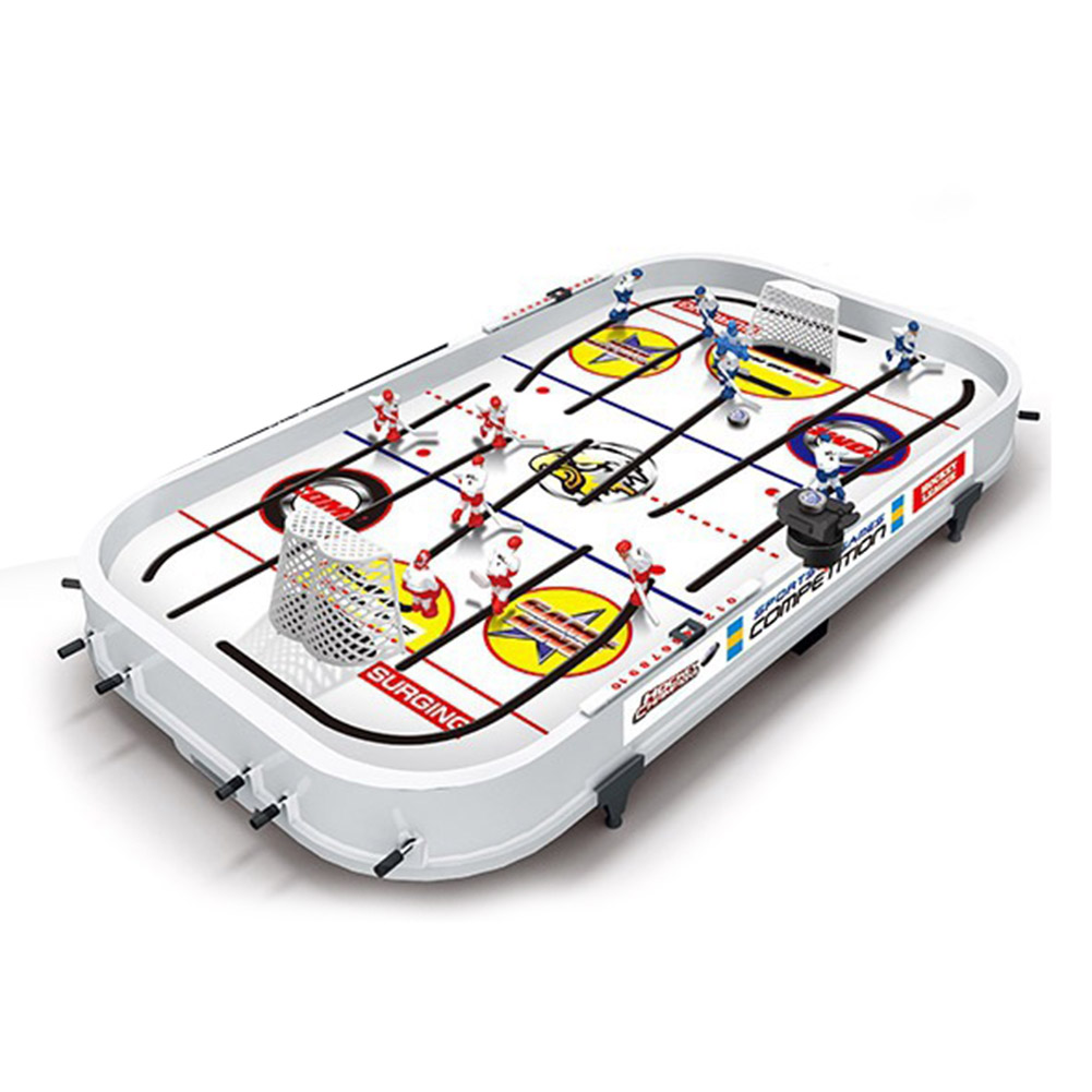 Tabletop Game For Boys Mini Rod Hockey Table Top Accessories Family Play Fun Table Game Set FJ88