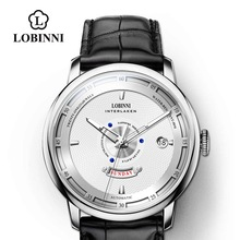 Lobinni MIYOTA Mechanical Watch Men Luxury Brand Famous Self-wind Men Automatic Watch Fashion Waterproof часы наручные мужские наручные часы xiaomi twentyseventeen mechanical watch