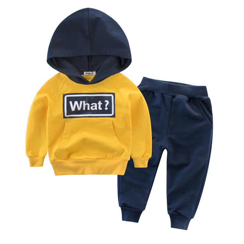 Spring Models 2019 Orangemom Children's Clothing New Children's Suit Boys' Clothing Two-piece Baby Sweater And Pants