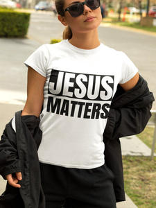 Graphic T-Shirt Easter-Clothes Matters Funny Jesus Mental Health Christian Printed Religous