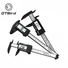 150 мм 6 дюймов lcd цифровой электронный штанштанштанштангенциркуль из углеродного волокна микрометр измерения DT6