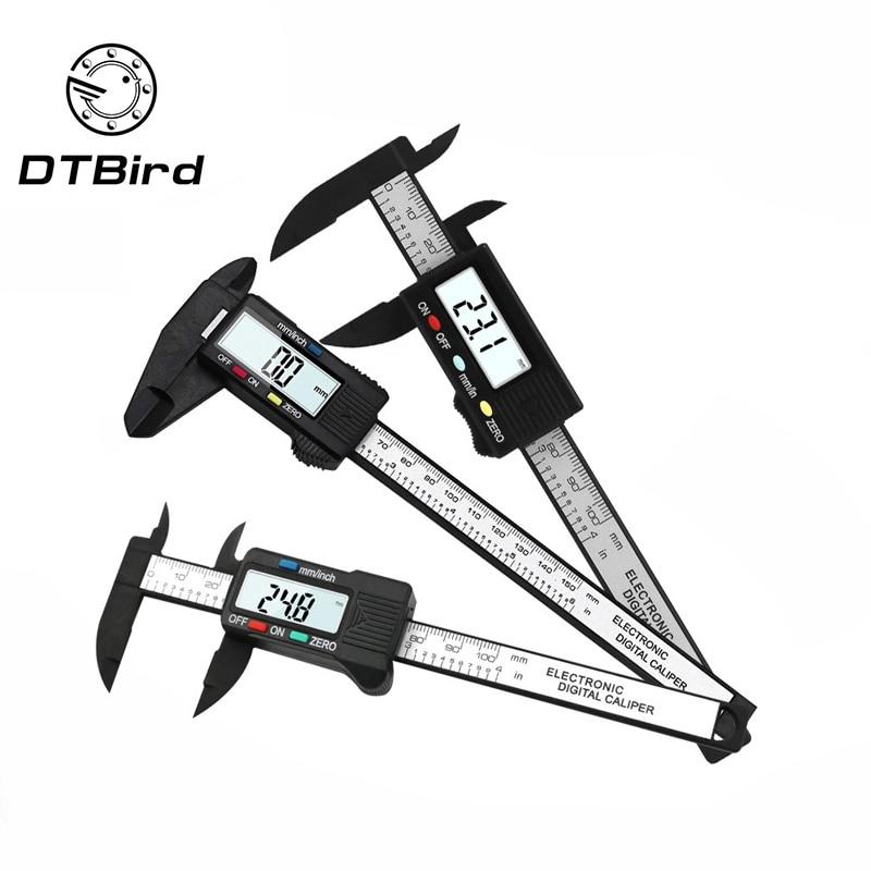 150mm 6 Inch LCD Digital Electronic Carbon Fiber Vernier Caliper Gauge Micrometer Measuring    DT6