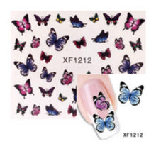 1 Pcs Hot Sale DIY Fashion Pink Pattern Flower Series Nail Art Water Transfer Stickers Full Wraps Deer/Water Transfer 3D XF1212(China)