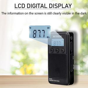 Image 2 - Retekess TR103 Pocket Portable Mini Radio FM / MW / SW Digital Tuning Radio 9/10Khz MP3 Music Player with Rechargeable Battery