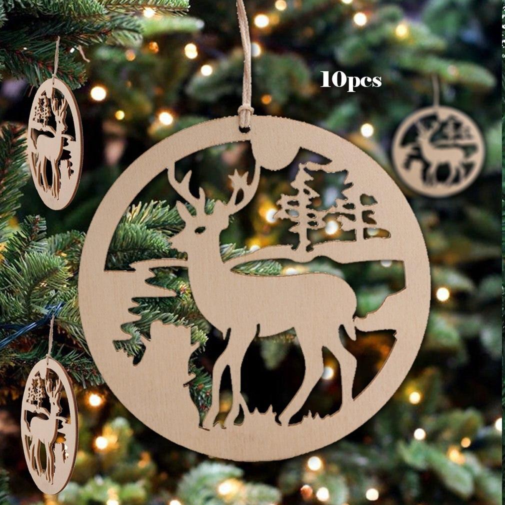 10Pcs Lovely Pendants Christmas Tree Moose Drop Home Xmas Decoration