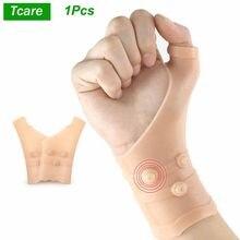 Tcare-muñequera de Gel de compresión para el dolor, soporte para el pulgar para el túnel carpiano, muñequera de silicona elástica para La Tenosynovitis, 1 Uds.