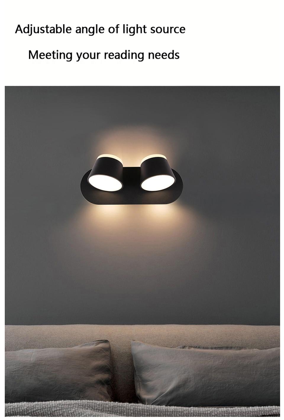 parede luminária moderna iluminação hotel 8 w 16 360 rotação
