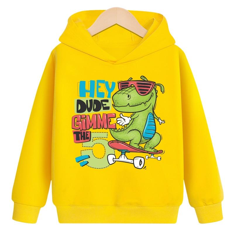 Sweatshirts Hoodies Long-Sleeve Baby Baby-Boys-Girls Kids Children Cartoon Autumn New Spring Tops Clothes Clothing Dinosaur 4