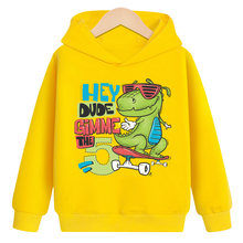 Sweatshirt Hoodies Teenage Baby-Boys-Girls Kids Children's Autumn New Spring Cotton Casual Print Dinosaur Tops Clothes Clothing цены