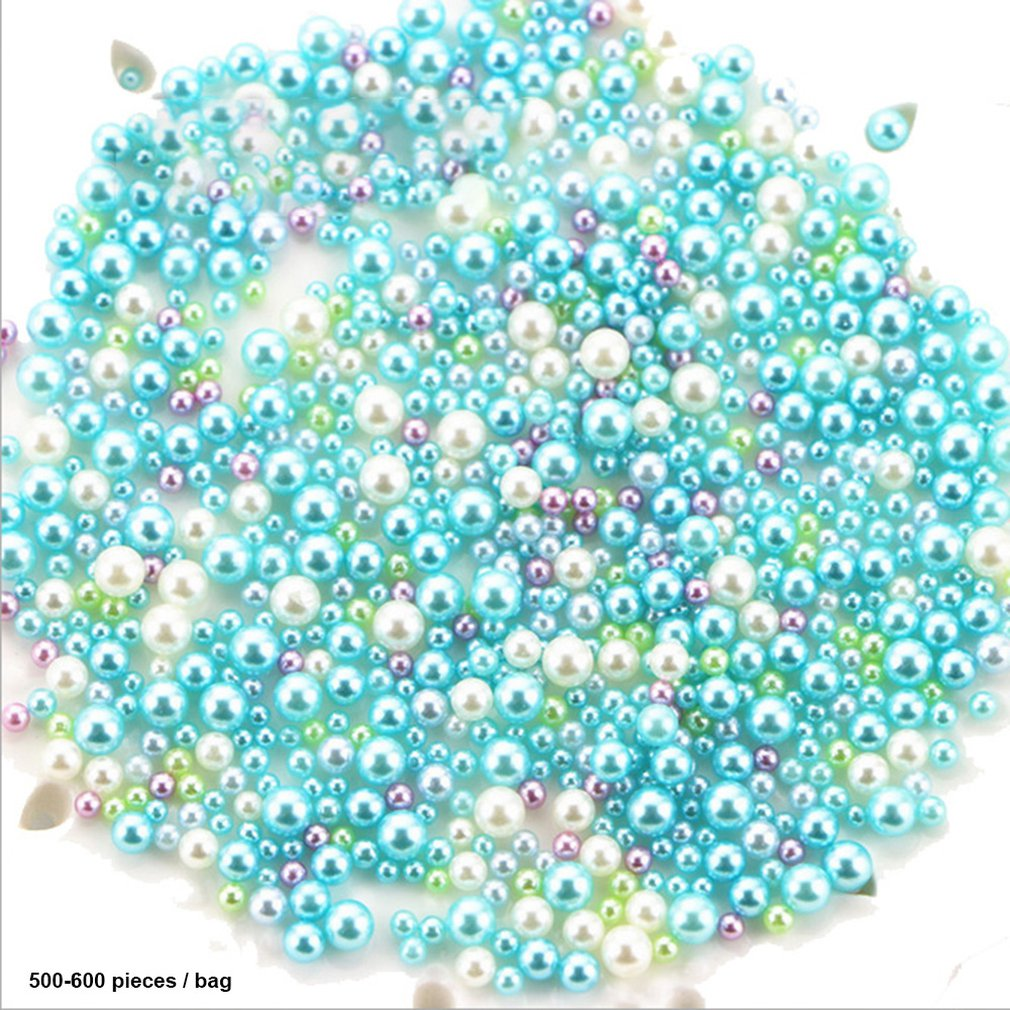 Kids DIY Resin Imitation Pearl Particles Accessories Slime Balls Small Tiny Foam Beads For Floam Filler For Girls Toy Gift