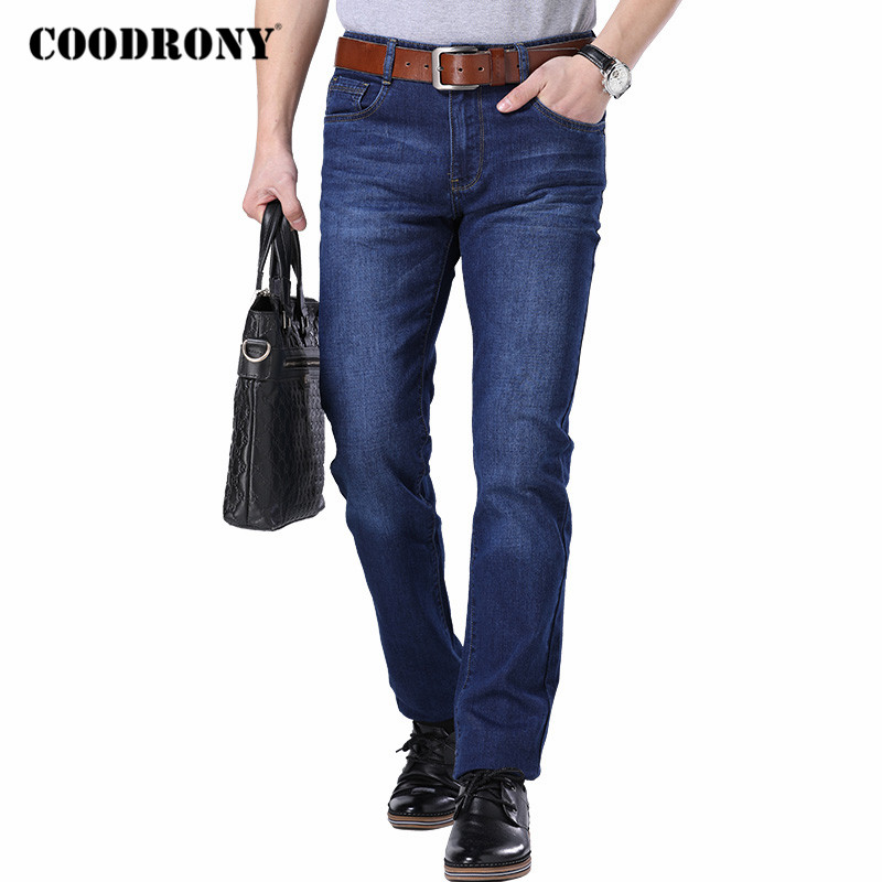 COODRONY Brand Mens Jeans Streetwear Business Casual Straight Trousers Spring Autumn High Quality Denim Pants Men Clothing C9002