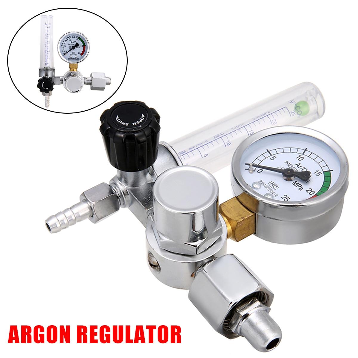 Metal Welding Gas Meter Argon CO2 Pressure Flow Regulator MIG MAG Weld Gauge Argon Regulator Oxygen Pressure Reducer