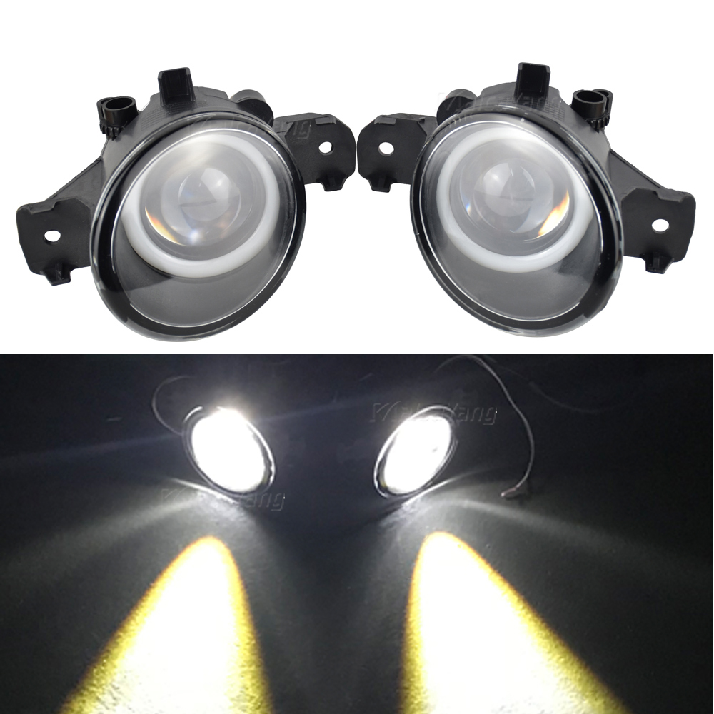 2pcs/pair (Right + Left) Fog Lamp Assembly LED H11 Fog Light With Angel Eye For N-issan Caravan URVAN Bus E25 2007