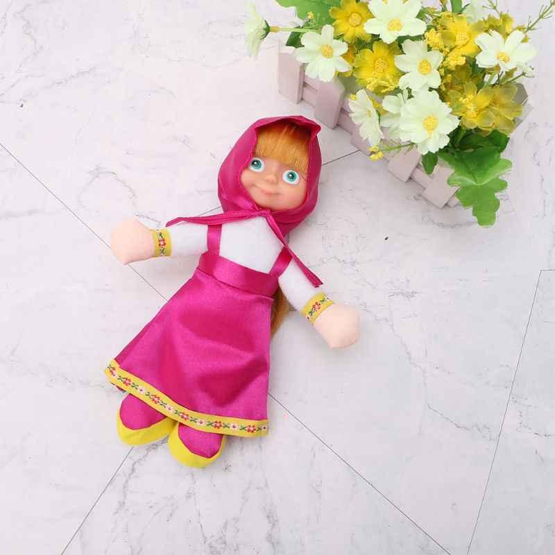 Briquedos Hadiah Ulang Tahun Populer Rusia Masha dan Beruang Boneka Mainan Bal Y4QA