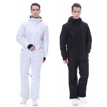 2020 New Ski Suit Men Winter-30 Temperature Mountain Jacket Snowboard Pants Waterproof Winter Warm Snow Jumpsuit Brands