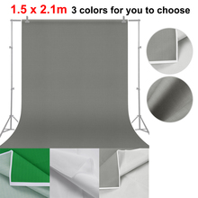 1.5 * 2.1m/ 5 * 7ft  Vinyl Photography Background Screen Green Grey White Portrait Photography Backdrops Photo Studio Props