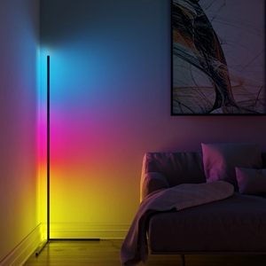Modern RGB LED Corner Floor Lamp Bedroom Bedside Living Room Atmosphere Colorful Standing Lamp Home Decor Floor Lights Lighting(China)