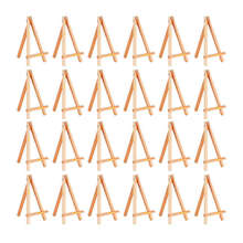 24 шт Мини Деревянный Дисплей мольберт деревянные мольберты Набор для набор для художников небольшие акриловые масляные проекты