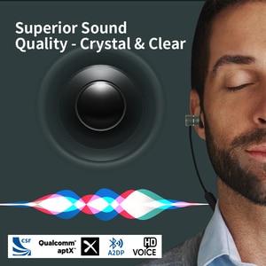 Image 2 - Bluetooth ワイヤレスヘッドフォン磁気スポーツイヤホン sweatproof CVC6 ロスレスステレオイヤフォンノイズマイク