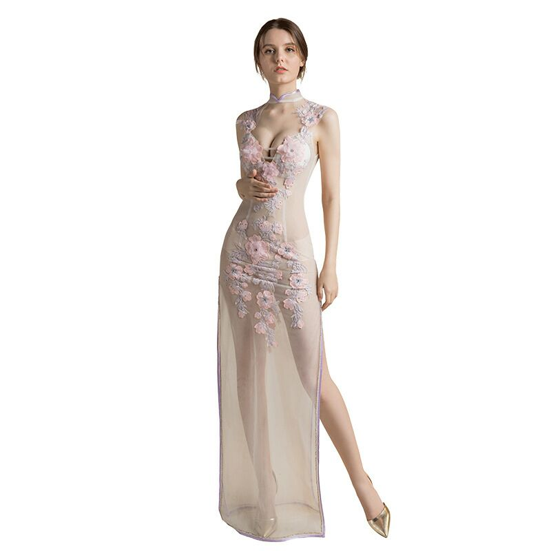 2020 FENTEFEN Plus Size Evening Dresses Car models Anchor Costumes Clubhouse Mermaid dress Soiree Sexy Dress BX-0044