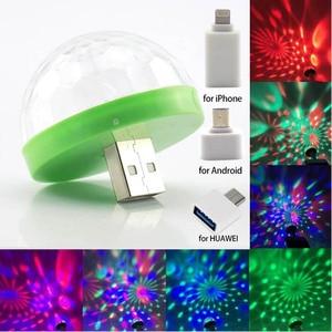 5V USB LED Mini Stage Disco DJ