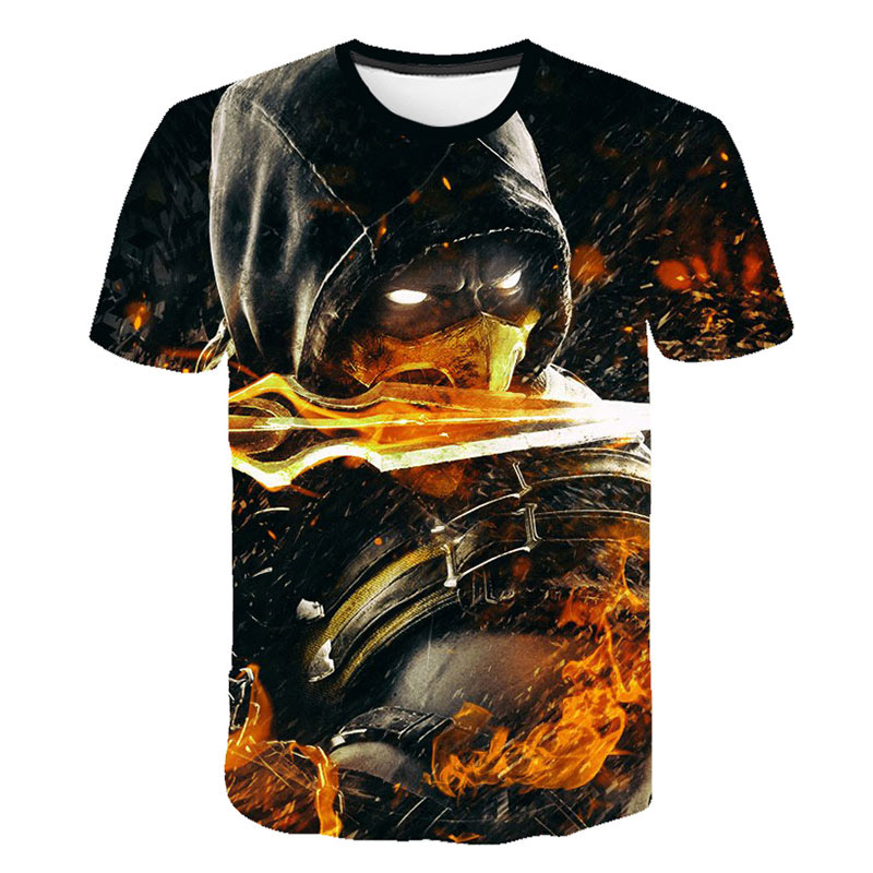 New 2019 Summer Fashion Casual Mortal Kombat 11 T-Shirts New Print Popular Fighting Game Boys And Girls T-shirt