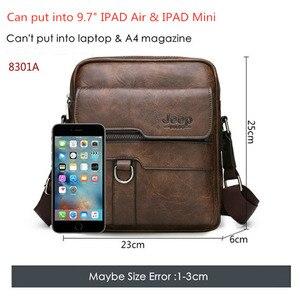 Image 4 - 新しい男性の小さなラップトップメッセンジャーバッグメンズレザー Ipad のミニタブレットショルダーマンクロスボディバッグため電話財布