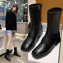 Женские ботинки на осень и зиму новые мартинсы короткие женские