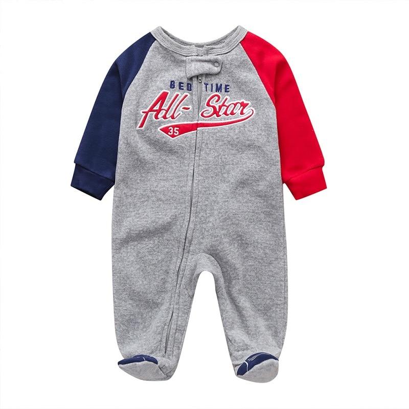 Комбинезон для маленьких девочек с рисунком единорога; зимняя одежда для новорожденных мальчиков с длинными рукавами; 0-12 месяцев; с круглым вырезом; на молнии; - Цвет: 2
