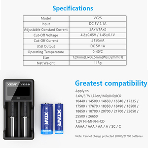 Image 4 - XTAR 18650 Battery Charger / PB2S Power Bank Charger / ST2 SC2 Fast Charger USB / MC2 MC2PLUS VC2 VC2S LCD Battery Charger 21700