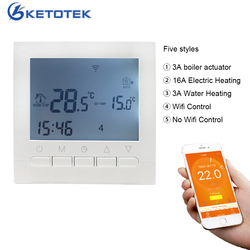 WIFI Smart Thermostat 16A AC220V Water/Electric Floor Heating Temperature Regulator Weekly Programmable Temperature Controller
