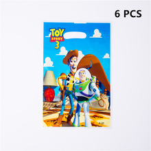 6pcs/lot Gift Bag Toy Story Party Disposable Tableware Baby Shower Children Birthday Decoration Supplies