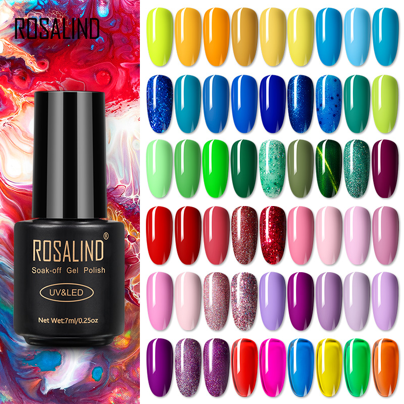 Vernis à ongles ROSALIND Vernis hybride Vernis ongles Art tout pour manucure Vernis Semi Permanent LED UV Soff Off Vernis à ongles