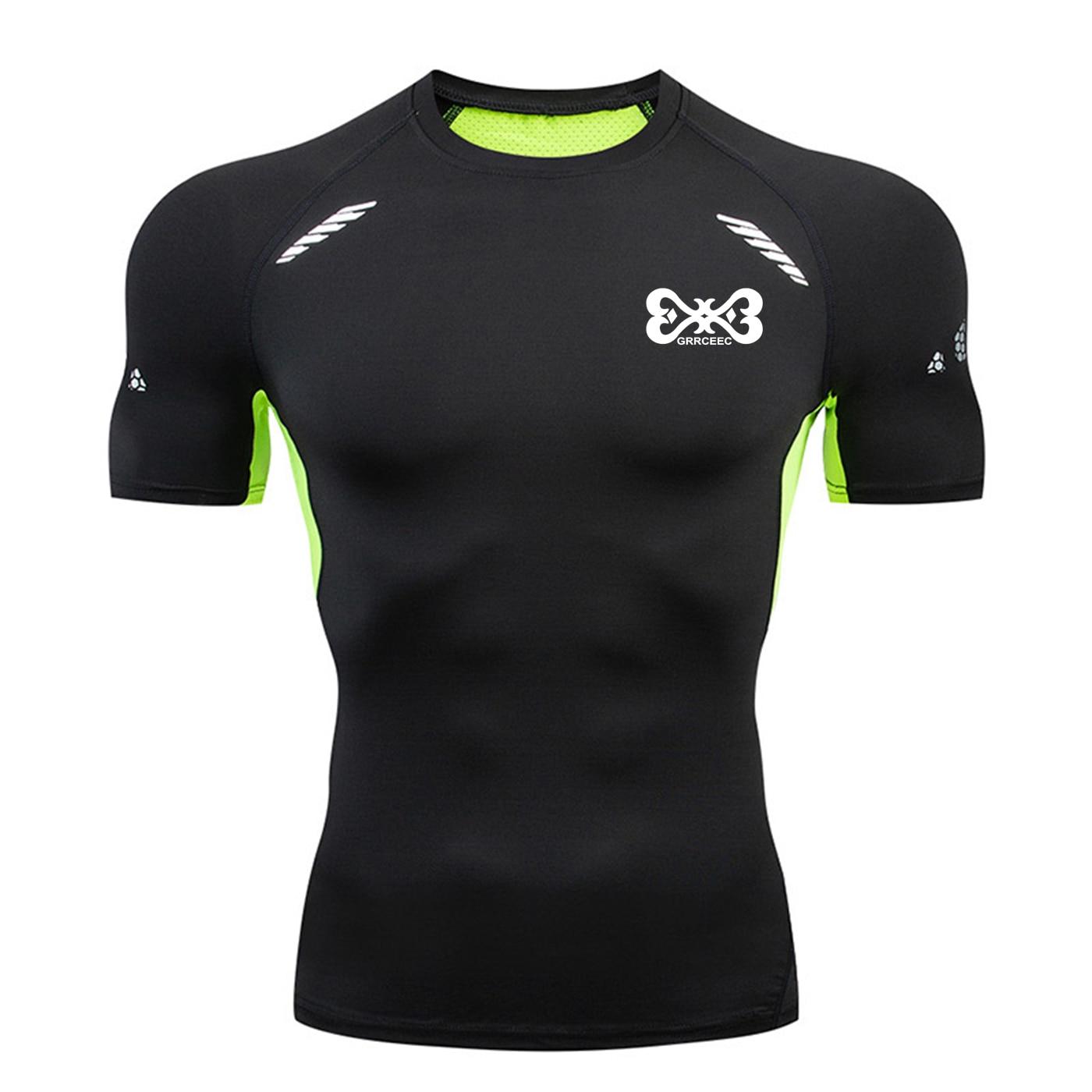 High Quality Quick-drying Men's Shirt Sports Find Gym Men's Rash Sportswear Compression Fitness Top Running Men's Sports Shirt