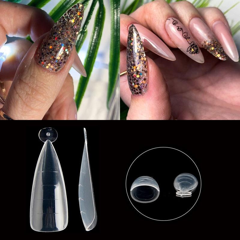 Формы для быстрого наращивания ногтей, 120 шт., формы для наращивания ногтей, формы для полигеля для ногтей, 5 шт., двойные формы для дизайна ног...