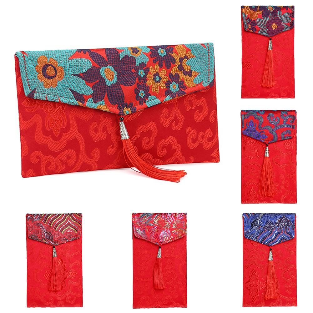 Red Money Packet Brocade Red Envelope Chinese Traditional Pocket Money Bag