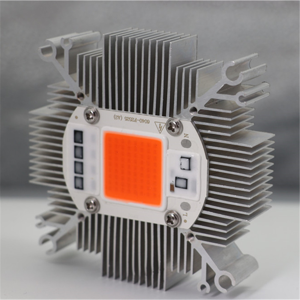 10w-200w Cob Led Heatsink Pure Aluminium And DC12V Fan With 34*34MM Hole Multichip Led Cooling DIY Led Grow Light