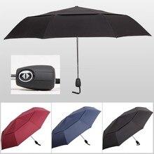 Wind Resistant Folding Automatic Umbrella Rain Women Auto Luxury Big Windproof Umbrellas Large Strong Frame Gentle