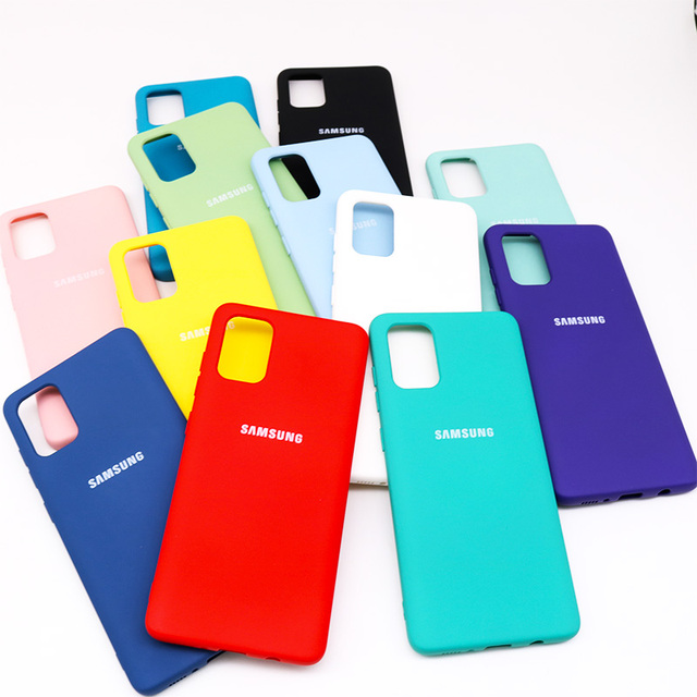 For Samsung Galaxy A51 A71 Case High Quality Soft Silicone Cover  Samsung Galaxy a71 a51  Protector Shell With Logo&Buttons 2