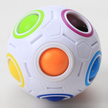 Rainbow Ball Puzzles Spheric Magic Cube Toy Adult Kids Plastic Creative Football Learning fidget toys Gifts For Children