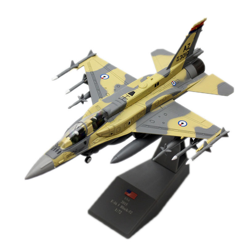 1/72 Scale Military Model Toys F-16 Fighting Falcon Fighter Diecast Metal F16 Model Toy For Collectible Kids Gift Decoration