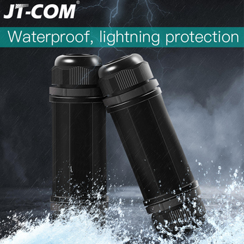цена на Network RJ45 Cable Waterproof protection Connector Waterproof Connector Double Head Adapter Coupler Extension for Cat5 6 7 8P8C