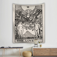 India Mandala Tapestry Wall Hanging Sun Moon Tarot Witchcraft Cloth Tapestries Polyester Blanket Bedspread Decoration